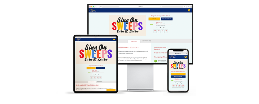 Choir Fundraising websites