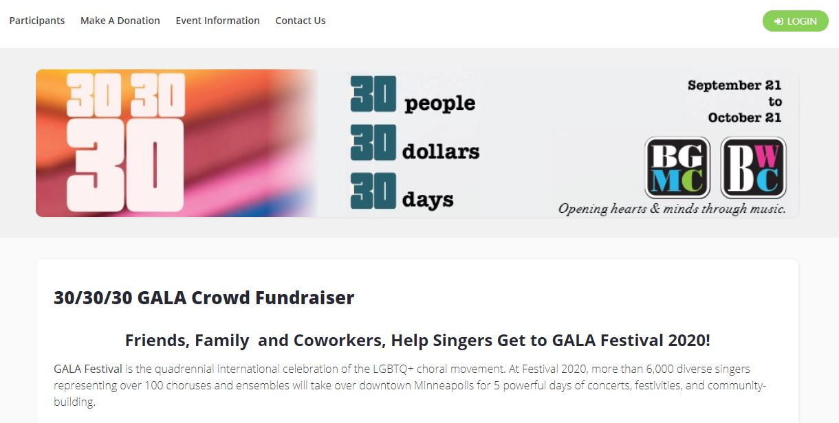 Choir Fundraising Websites