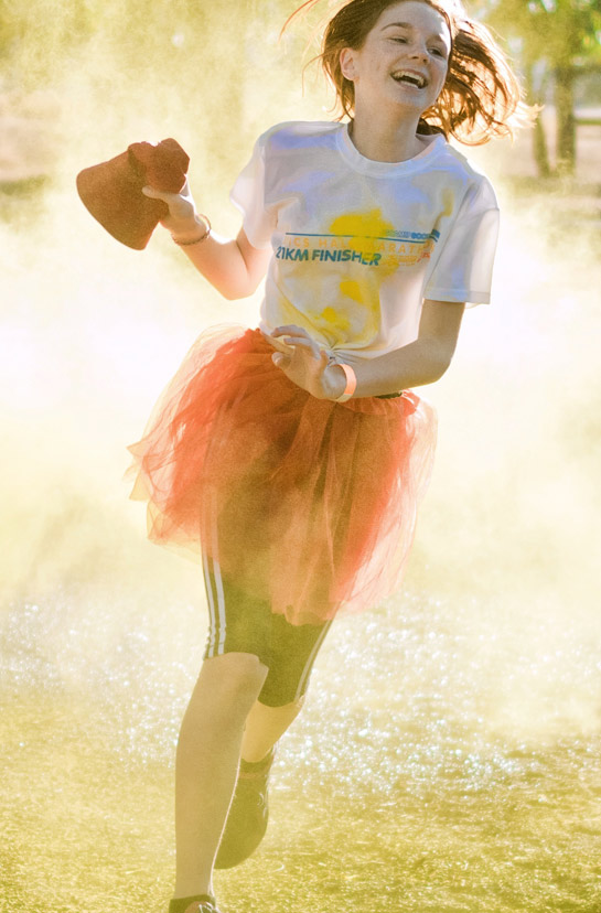 Color Runs are popular for school events