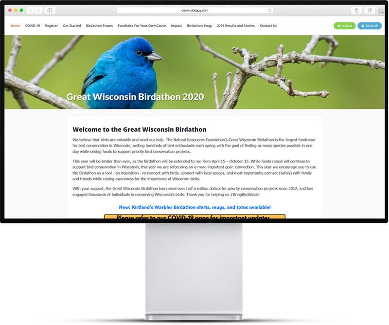DoJiggy Website Example - Online Fundraising platform