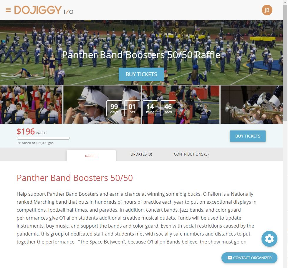 Client example: 50/50 Raffle Fundraiser