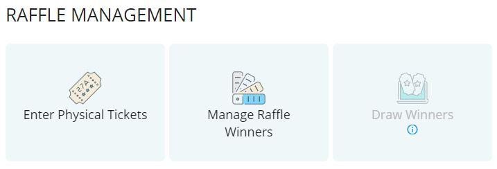 Raffle Management functions