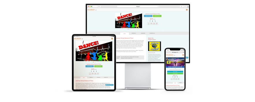DoJiggy's fundraising software solutions for dance marathons