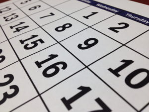 Virtual Golf calendar