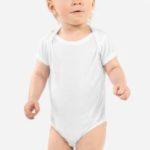 Baby onesies are great for Custom Printed Merchandise
