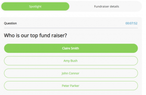 Top Fundraiser Quiz in live streaming