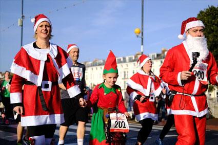 Run a Christmas Walkathon or Fun Run